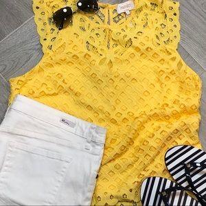 NWOT:  Beautiful Sleeveless Lace Top by Laundry